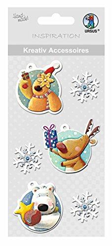Ursus 564000206 - Kreativ Accessoires, Tiere und Schneeflocken, Selbstklebend, 6 Stück Preisvergleich