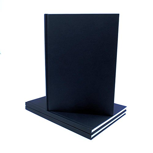 Seawhite album da disegno formato a4 con copertina in tessuto nero, 140 g/m²