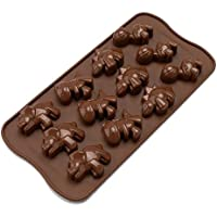 ED-Lumos Molde Silicona para caramelo dulces bombones hielo jabón Forma Dinosaurio 21.5*11*1.5cm