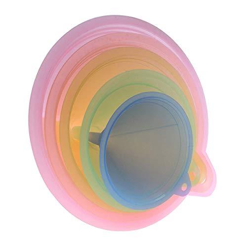 Trichter-Set für die Küche, Regenbogenfarben, Trichter, 67 mm, 83 mm, 98 mm, 110 mm und 125 mm, 5 Stück (83 Stück Küche-set)