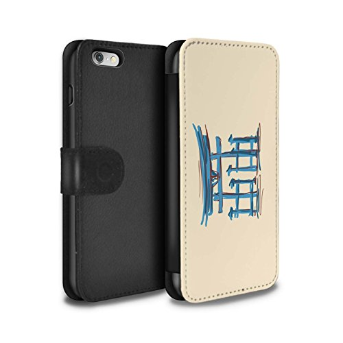 Stuff4 Coque/Etui/Housse Cuir PU Case/Cover pour Apple iPhone 6 / Tour Eiffel / Paris Design / Monuments Collection La porte de Torii/Japon