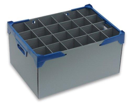 Große Weinglas Lagerkästen | Glaswaren Crates | Weinglas | Glassjacks | Glas max Breite 80mm ,...