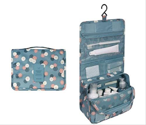 Paket Wbdd Frauen Reisen Tragbare Kosmetiktasche Kosmetiktaschen Waschen Aufbewahrungstasche Wash Aufbewahrungstasche Blaue Blumen (6 Pj Größe Mädchen)