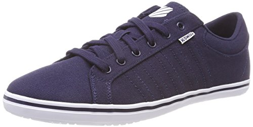 Blauer Hof (K-Swiss Herren Hof IV T VNZ Sneaker, Blau (White/Navy 442), 42.5 EU)