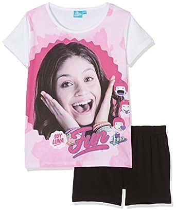 soy luna slfs27403 ensemble de pyjama fille rose white black 10 ans taille fabricant 10. Black Bedroom Furniture Sets. Home Design Ideas