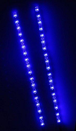 CREATIVE LIGHTS - AQUARIUM MONDLICHT 2 x 30 CM LED LICHTLEISTE + DIMMER KOMPLETTSET INKL. NETZTEIL FLEXI-SLIM BLAU - 3