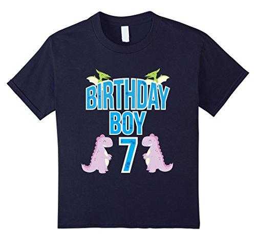 birthday-boy-7-t-shirt-dinosaur-seve-year-old-birthday-tee-kinder-grosse-128-navy