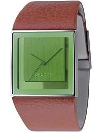 Philippe Starck Philip Starck - Reloj analógico de cuarzo para mujer con correa de acero inoxidable, color marrón