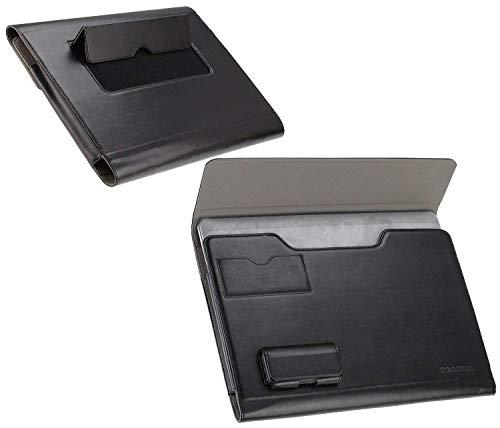 Navitech Broonel London – Prestige – schwarzes Premium Fall/Abdeckung / Trage Tasche/Folio speziell für Toshiba Portégé X30