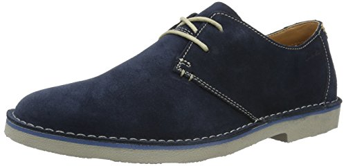 Clarks Jareth Walk, Derby Homme Bleu (Navy Suede)