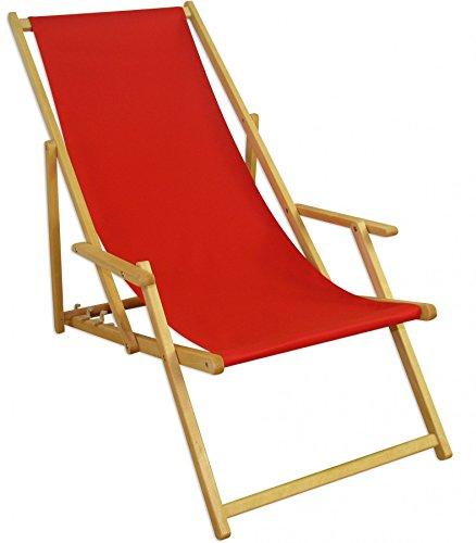 Sedie Sdraio In Legno Prezzi.Sedia A Sdraio Rosso Poggiapiedi Cuscino Sedia A Sdraio