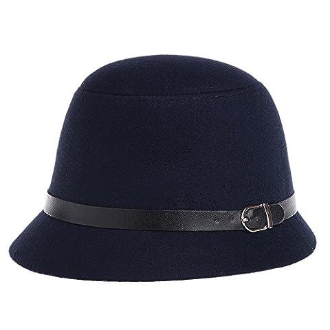 Ruban Pour Chapeau - Vbiger Chapeau Cloche en Laine Rétro Simple