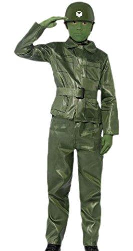 Halloweenia - Jungen Soldaten Kostüm, 116, Grün