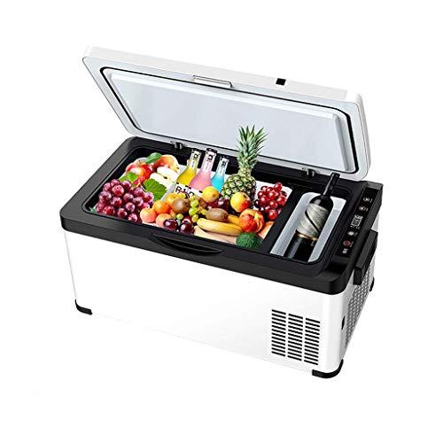 DLINMEI Auto Kühlschrank Kältekompressor 12V / 24V LKW Mini Gefrierschrank Kleinwagen Home Dual-Use-Kühl Gefroren für Outdoor, Auto, Home -