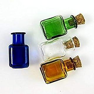 12 x Glass Bottles Cork Mini Stopper Wishing Bottle Pendants Perfume Hand-Blown Small Drift Bottle 4 colors SG2