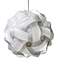 Kasfam Puzzle Lampshade Araña Moderna Pantalla de lámpara Cubierta de lámpara de Techo