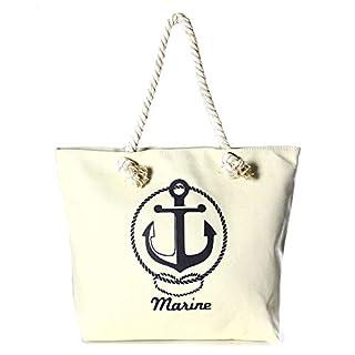 Auliné Collection Womens Fashion Casual Travel Beach Shoulder Tote Bag Handbag - Marine