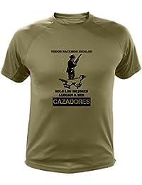 Camisetas personalizadas de caza, Todos nacemos iguales, cazador - Ideas regalos (30139, Verde, L)
