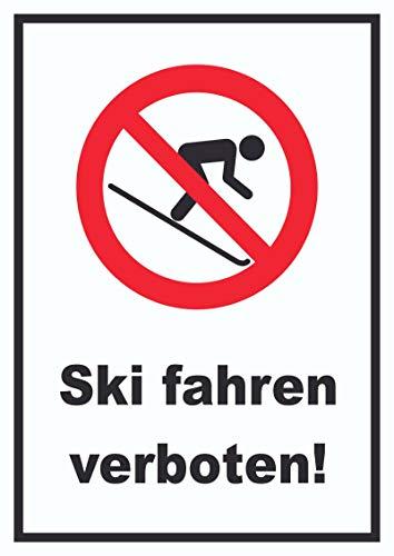 HB_Druck Ski Fahren verboten! Schild A1 Rückseite selbstklebend