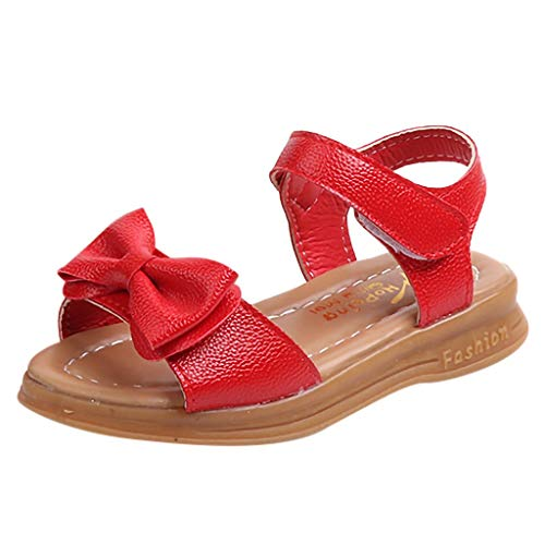 Sanahy Kinder Sandalen Prinzessin Flache Schuhe Sommer Kinder, Baby Mädchen Bowknot Sandalen Weiche Rutschsicheren Baby Schuhe