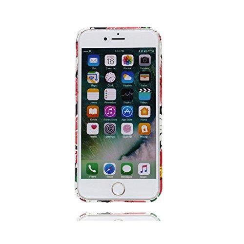 iPhone 7 Custodia,   TPU Case Cover protettiva antiurto TPU Resistente ai graffi Shell Skin   Giovane modello   Copertura per iPhone 7 - peonia fiore - Per ragazze signore Color 7