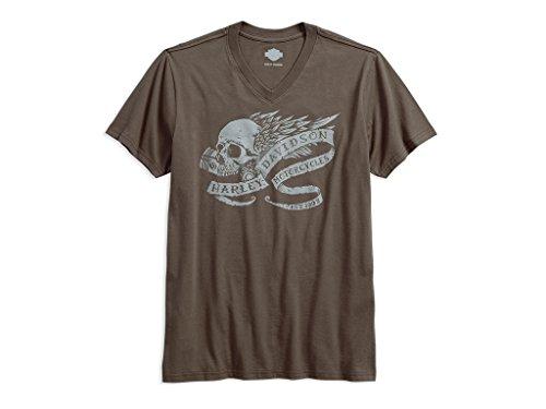 Harley T-shirt Davidson Skull (Harley-Davidson T-Shirt Winged Skull, M)