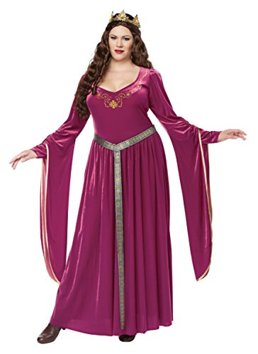 California Costumes Pink Lady Guinevere Renaissance Plus Size Adult Halloween Costume 3XL