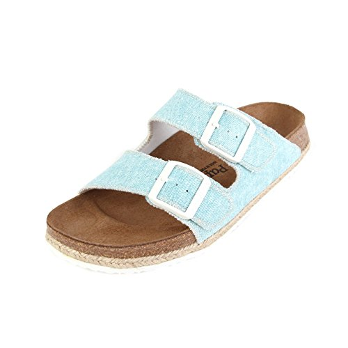 P-A Arizona Birko-Flor, Mules Femme Blau (Beach Light Blue)