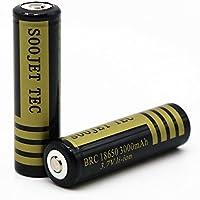 2 x 18650 Batería De Alta Calidad Batería Recargable Li-ion 3000mAh 3,6 / 3,7 voltios  - Más de 800 Veces Recargables - Construido con Células de Marca - Ideal para Linterna LED