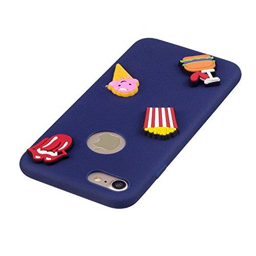 Coque iPhone 7 , Etui iPhone 8 , CaseLover 3D Etui Coque TPU Slim pour Apple iPhone 7 / Apple iPhone 8 (4.7 pouces) Mode Flexible Souple Soft Case Couverture Housse Protection Anti rayures Mince Trans Cœur