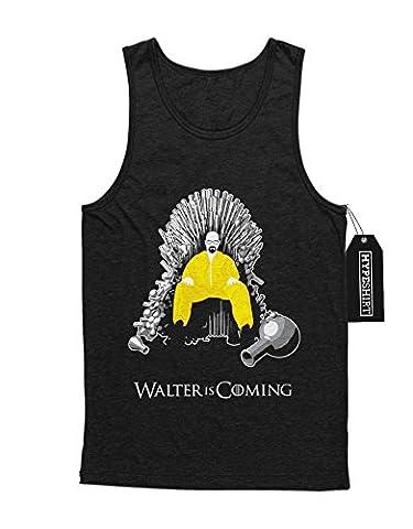Tank-Top Walter is Coming Game of Thrones Breaking Bad Mashup C980061 Schwarz L (Walt Breaking Bad Kostüm)