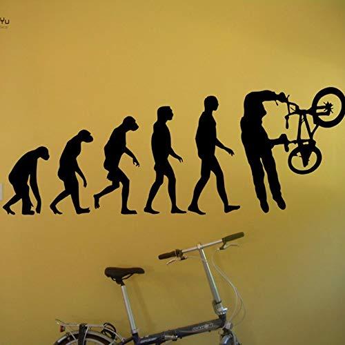 Wandtattoo Vinyl Tapete Aufkleber BMX Evolution FahrradXAbziehbilder Wohnkultur Adesivo Art Repetable Dekoration 57X145CM