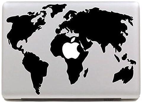 Vati Feuilles amovible Carte Cool World Design Le meilleur vinyle autocollant Decal peau Black Art Parfait pour Apple MacBook Pro Air Mac 13