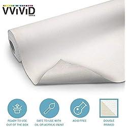 vvivid doble imprimación lona de algodón rollo de 61cm de ancho elegir su tamaño.