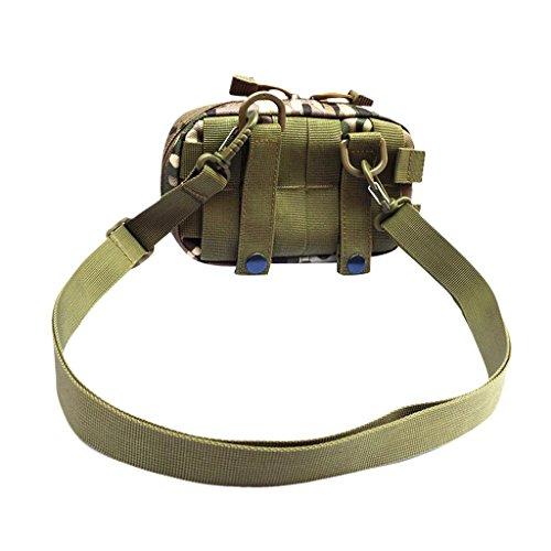 MagiDeal Taktische Hüfttaschen Molle Tasche Gürteltasche Molle Beutel Ideal für Outdoor Sport Wandern Camping Trekking Radfahren Angeln Beintasche CP Camo