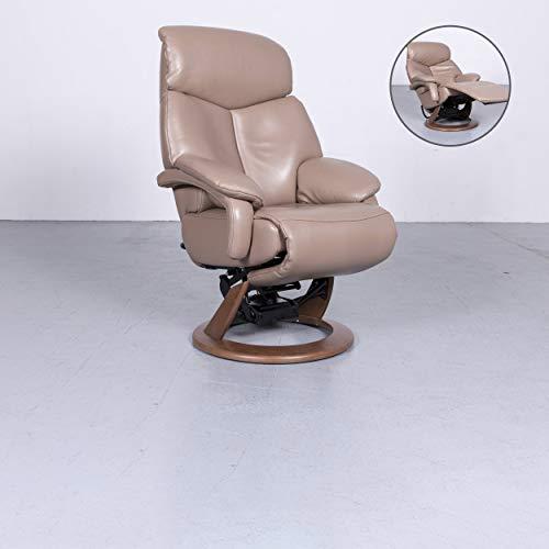 Hukla Cosy Relax Designer Leder Sessel Braun Echtleder Stuhl Relax Funktion #6496 Top Zustand