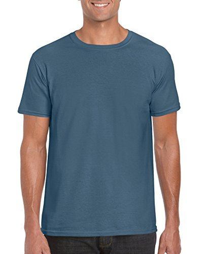 Gildan Soft-Style Herren T-Shirt, Kurzarm, Rundhalsausschnitt Indigo