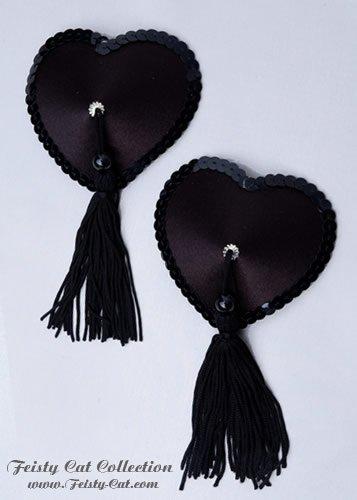edle-satin-pasties-mit-tassels-pure-elegance-schwarz