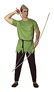 Atosa-5133-Disfraz de ladrón de los Madera-Adulto-Tamaño 2