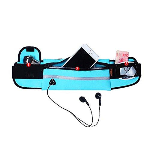 ZHANGRONG- Sporttaschen Multifunktionsgurt Wasserdichte Lauftasche Anti - Diebstahl Unsichtbare Persönliche Mobile Lässige Kleine Taschen Männer Und Frauen Im Freien Paket (Mehrfache Farben Vorhanden) 9