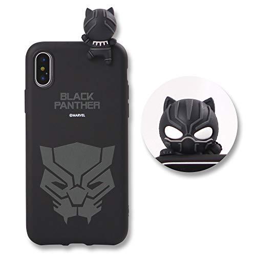 MARVEL KOREA Marvel Figur Farbe Gelee-Kasten für iPhone 7Plus / 8 Plus (Black Panther) -