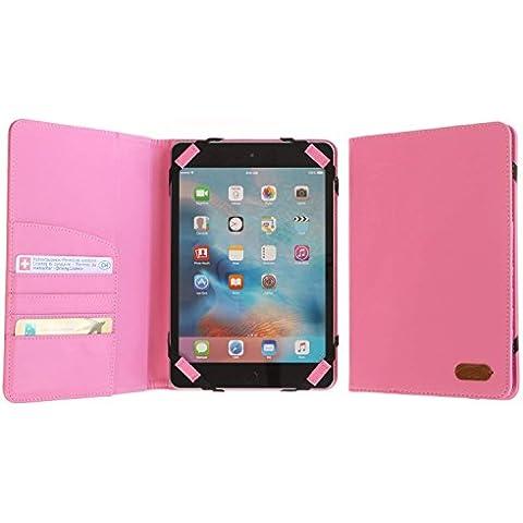 3Q Funda 7 pulgadas a 8 pulgadas Universal para Tablet Novedad Mayo 2016 Porta Tablet Case Cover Carcasa con soporte de sobremesa Diseño exclusivo Suizo Rosado