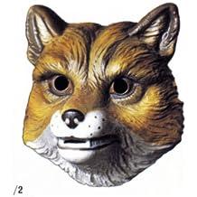 Cesar - Máscara de zorro para disfraz infantil unisex a partir de 3 años (A524-001)