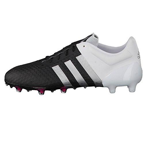 Ace 15+ Primeknit FG - Chaussures de Foot - Noir/Blanc
