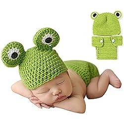 Lindo bebé foto fotografía Prop ropa para 0 - 6 meses bebé recién nacido rana Talla:estándar
