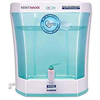 KENT Maxx 7-Litres Wall Mountable/Table Top UV + UF (White and Blue) 60-Ltr/hr Water Purifier with detachable storage tank