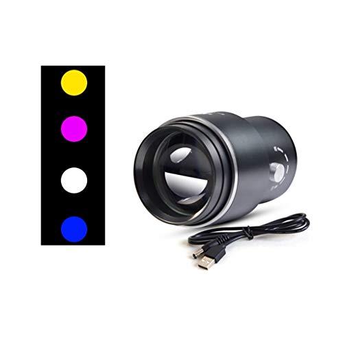 YROD light Angeln Lampe, Multi Funktion Laterne Mit Halterloch Locken Fisch Licht Taschenlampe Weiß/Gelb/Blau/Lila (Farbe : M6)