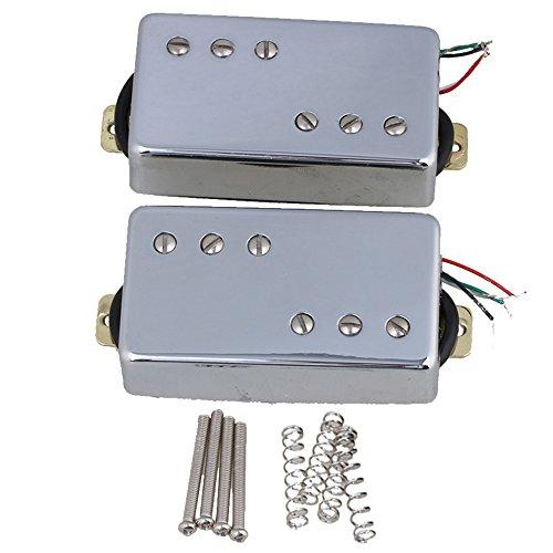 Yibuy 1set of 270x 36x 18mm 7.2K 15K humbucker doppia bobina senza cornice per la chitarra elettrica, Silver