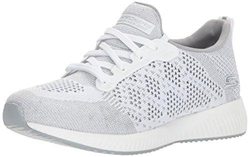 Skechers Bobs Sport Kader Heiße Funken Damen Trainer 6 UK/ 39 EU Weiß - Athletic Medizinische Schuhe