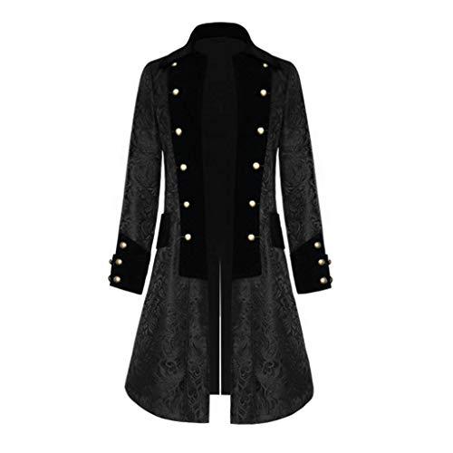 Vovotrade Herren Mantel Steampunk Gothic Jacke Vintage Viktorianischen Cosplay Kostüm Smoking Jacke Uniform Mittelalter Kleidung Weste Jacke Waistcoat - Prime Rib Kostüm